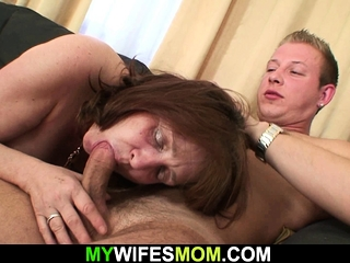 Busty girlfriends mummy gets seduced with an increment of fucked