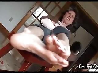 OmaFotzE Remarkable Revilement Clumsy Granny Feet videotape