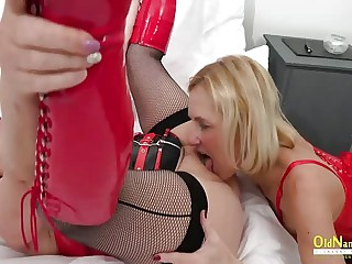 OldNannY Team a few Mature Lesbians added to Latex Sex Toys