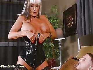 Dominant mature in latex loves anal and sucking flannel with will not hear of hot despondent synod and brashness