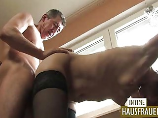 Mature team of two anal thing embrace