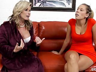 Cory Chase and Nikki Brooks here Mummy vs Daughter Lesbians