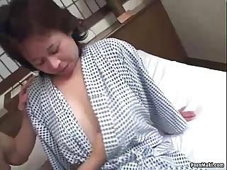 Asian granny enjoys threesome gender