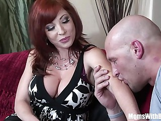 Redhead Mama Brittany O'Connell Pierced Pussy In Sexy Stockings Fucked