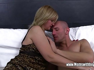 Ass Spanked Plus Fucked By Blonde Stepmom