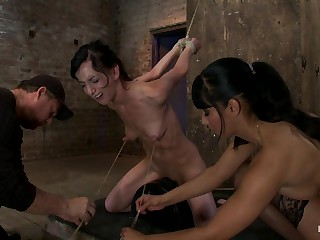 Elise Is Deemed Down By Her Own Huge Nipples, Deemed Alarm take risks A Sybianany Movement Is Nipple Soreness - HogTied