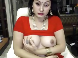 indian hustler masturbates in saree ohmibod lovense