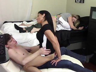 Fake Dam humps son while step founder humps stepdaughter (Family Taboo)
