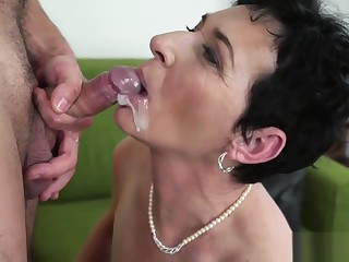 Matures added to grannies cummed in the first place - cumshot compilation