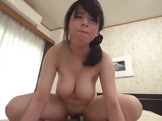 Jocular mater MISHIMA NATSUKO WHO IS TREATED SEXUALLY BY BOTH HIS SON-39-S FRIEND