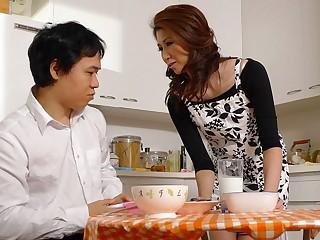 Yoshioka Nanako in Yoshioka Nanako is satisfying her step- son almost her lips - AviDolz