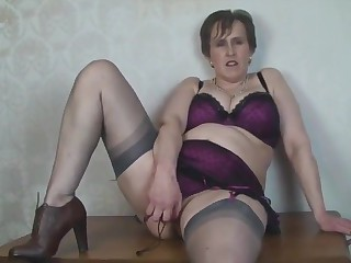 Busty Adult Wordsmith Toys in Nylon Stockings