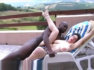 Helena Bella Hairy Super French Fucked Away from BBC Crying & Screams Loudly