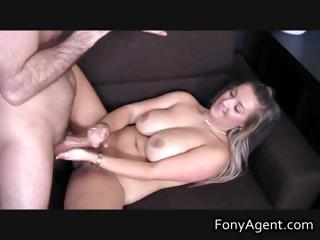 Busty blond jerking off some fine cock part2
