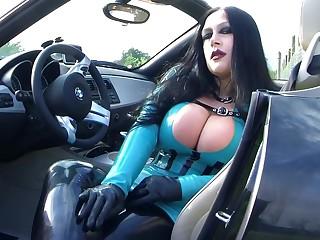 Prex BMW Z4 Bitch - Public Blowjob Handjob with Gloves everywhere Majorka - Mad about my nasty Brashness - Cum on my Tits