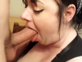 Luring wed deep throat increased by cum swallow!
