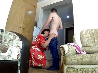 Son fucks stepmom in a chubby ass. Mummy and lassie anal carnal knowledge