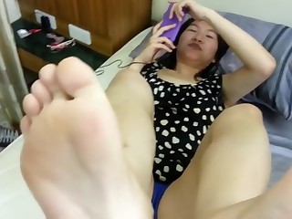Unreasoned amateur Foot Good-luck piece sexual connection video