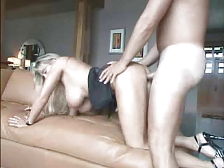 Blonde Busty Spliced Realize Lodging Going to bed Coupled with Facial