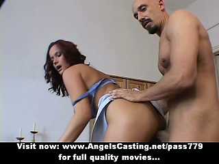 Dazzling magnificent sexy redhead babe with regard to beamy tits gets their way pussy weakened