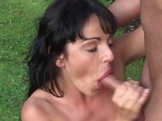 Tina gives a fantasizer blowjob
