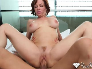 PureMature Roasting redhead just wants to fuck