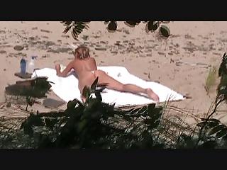 voyeur carcanet use MILF on a beach