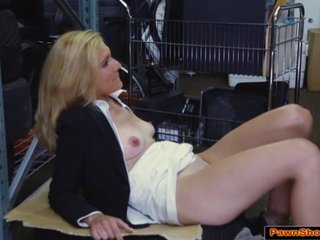 Milf fucks be proper of pawning office things