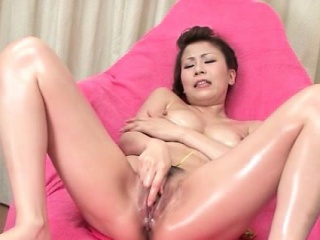 Unequalled asian bird has say no to oily pussy stimulated