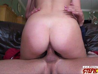 Milf plus stepdaughter rides bogus cock
