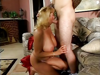 Chubby Tittied Blonde MILF Rheina Shine Loves Young Horseshit