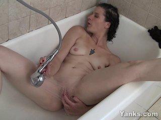 Wringing wet Amateur Full knowledge Masturbating In BathTube