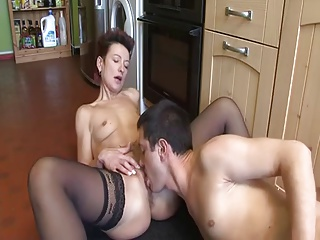 mature housewife hardly fucked involving the pantry