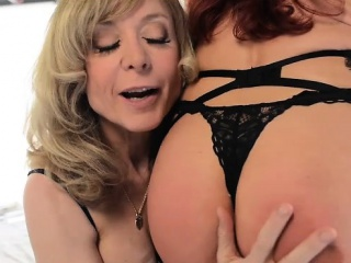Sexy Vanessa together with the Archetypal Nina Hartley